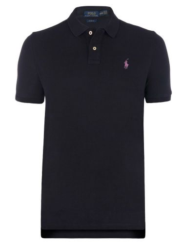 Ralph Lauren Polo Shirt Short Sleeve PK Black Blue Lilac logo